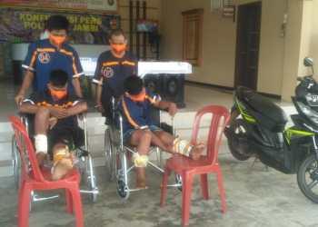 Foto: Keempat TSK Pencurian Roda Empar Saat di Ringkus Polsek Jambi selatan