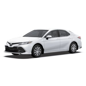 Toyota Camry blanche devant 45
