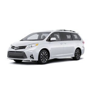 Toyota Sienna blanche devant