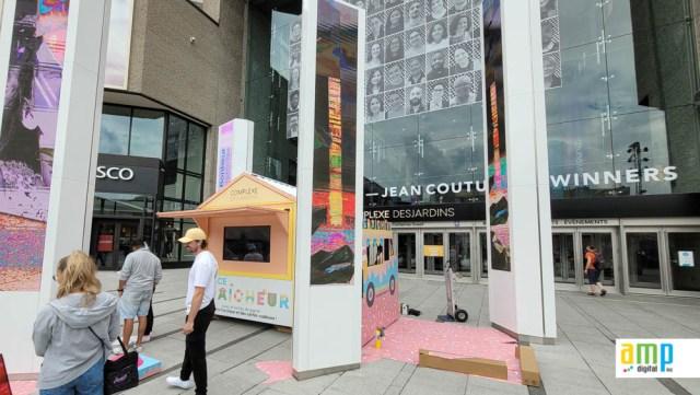 Installation structure promotionnelle à Montréal