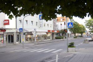 Einkaufsstraße Olching City nahe bei München