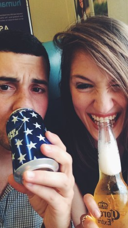 drinking on trains.