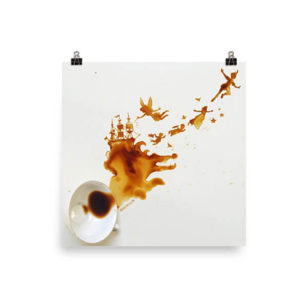 Coffee Art Poster Peter Pan (matte)