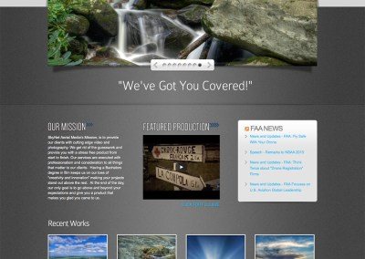 SkyNet Aerial Media Website Design