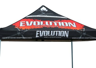 Evolution Helicopters Promotional Tent Design