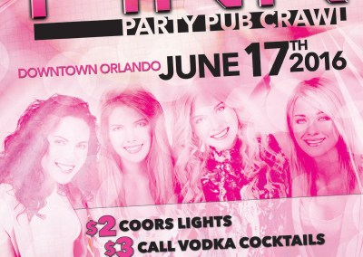 Pink Party Pub Crawl