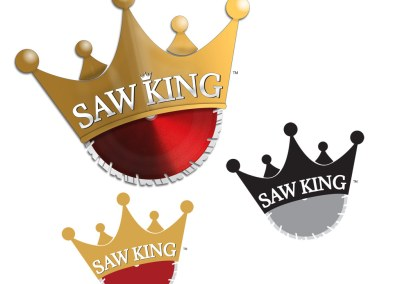 Saw King Service and Repair Logo, Branding