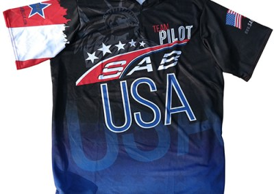 SAB USA Dye Sublimation Team Jersey Design