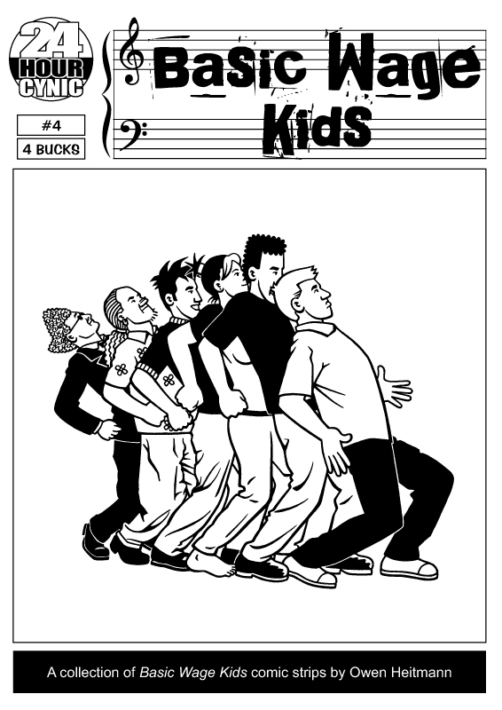 'Basic Wage Kids #4' cover by Owen Heitmann