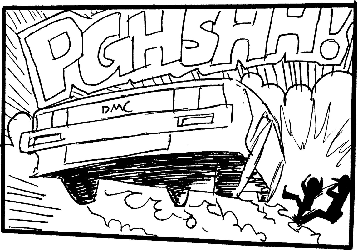 Panel from 'DeLorean' by Sione Bouts