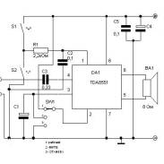 1W Audio Amplifier Circuit based TDA7052 - Amplifier Circuit