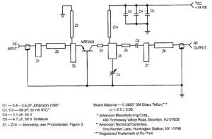 RF amplifier circuit 1W 2.3GHz MRF2001