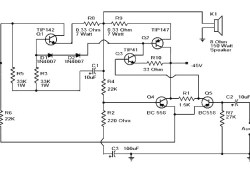 Simple 150 Watt Amplifier with Darlington Transistor