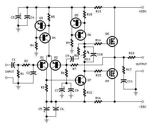 25 watts power amplifier based MosFet