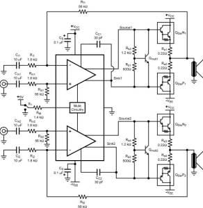 High-precision audio frequency amplifier