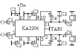 2×3 Watt Low-Frequency Amplifier based KA2206