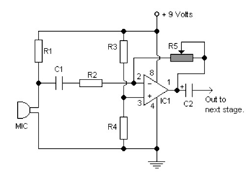 Single Chip Pre Amp