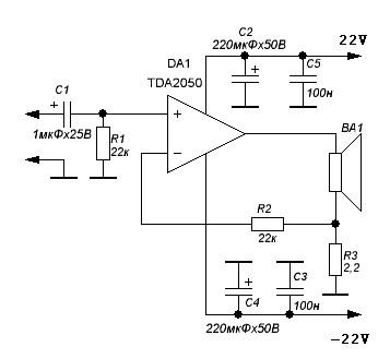The TDA2050 Audio Amplifier