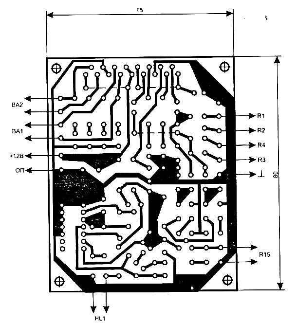 Audio Power Amplifier pcb layout