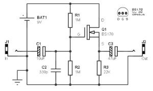 Guitar pre amp based FET - Amplifier Circuit Design