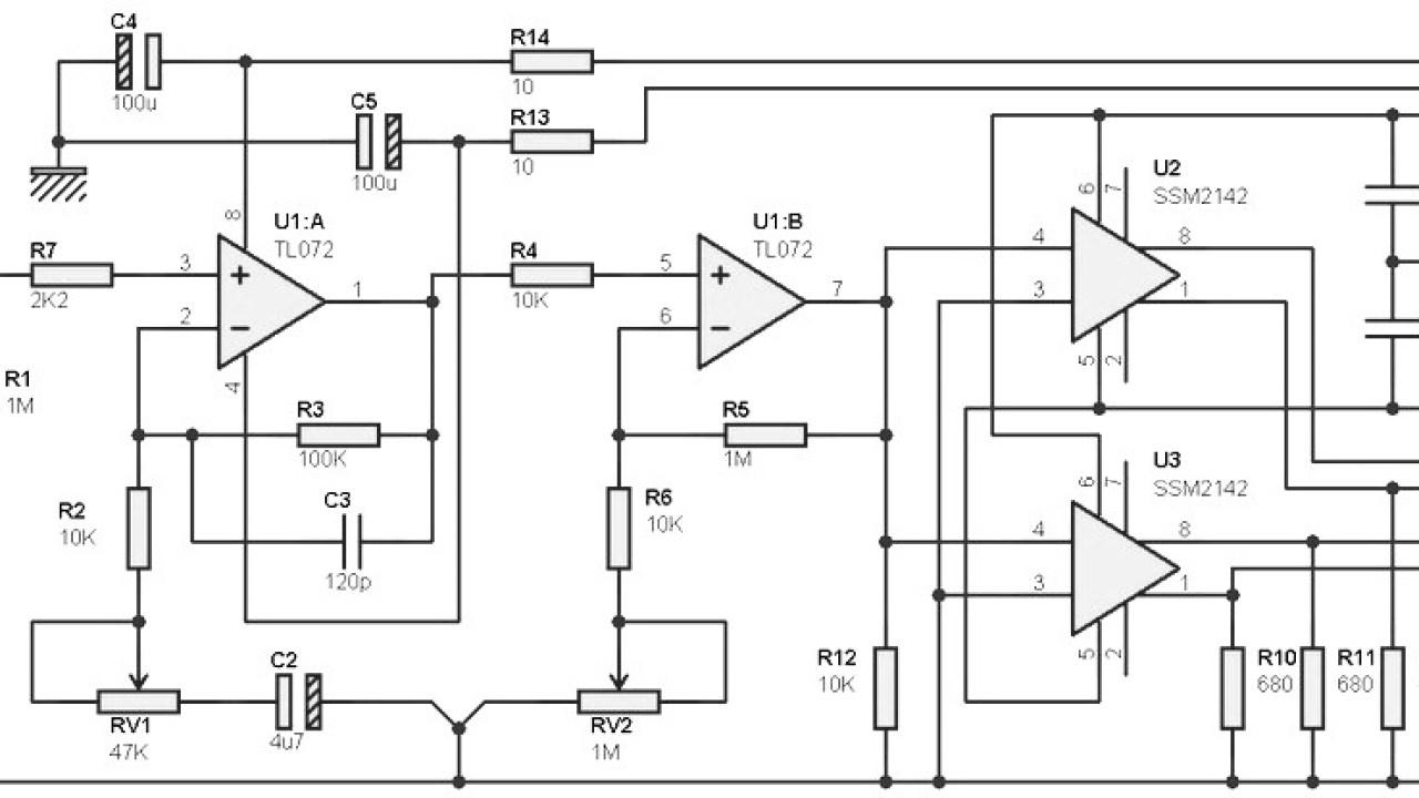Guitar Pre-amp Circuit based TL072 - Amplifier Circuit Design
