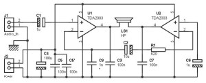 40 w bridge amplifier simplified