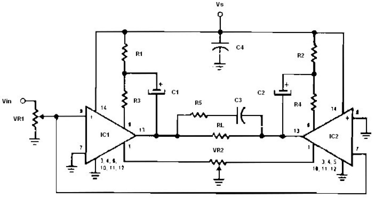 Low Voltage Bridge Audio Amplifier - Amplifier Circuit Design