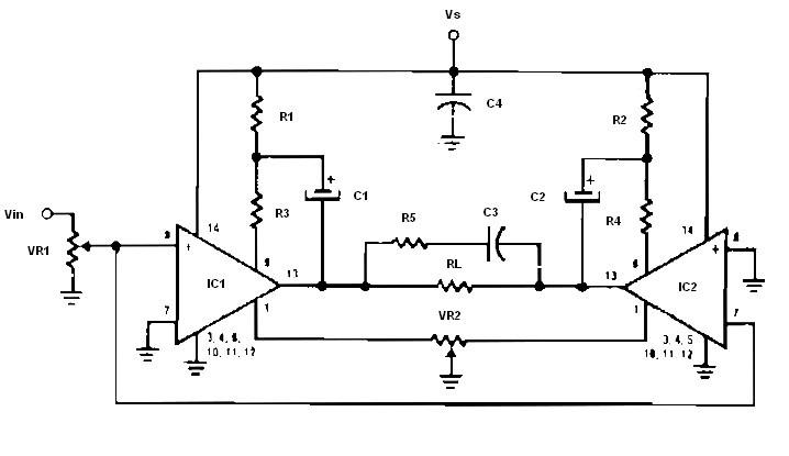bridge audio amplifier archives amplifier circuit designlow voltage bridge audio amplifier
