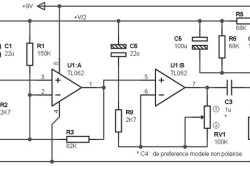 Mono Preamplifier based on TL062