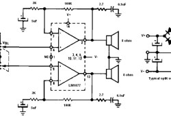 Non-Inverting Amplifier Using Split Supply