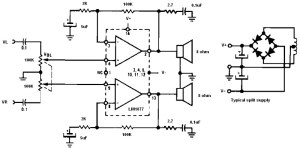 non inverting audio amplifier