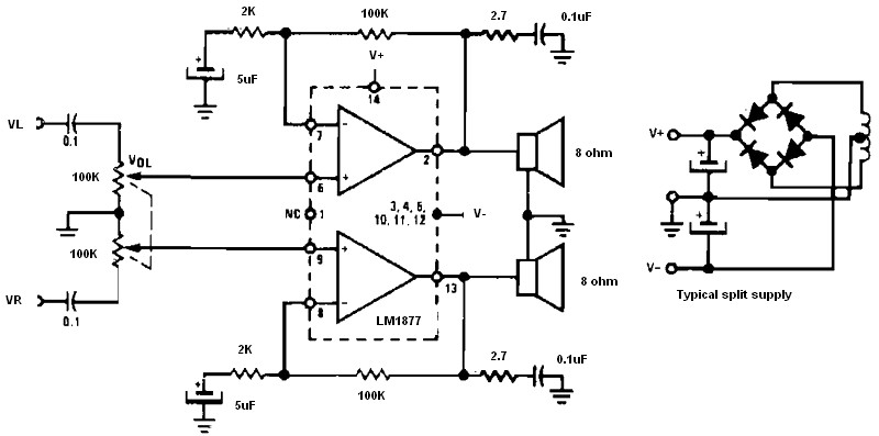 non inverting audio amplifier archives amplifier circuit designnon inverting amplifier using split supply