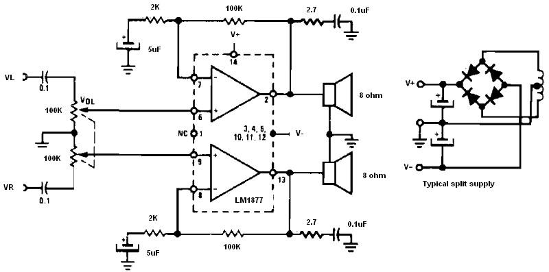 low voltage bridge audio amplifier amplifier circuit designnon inverting amplifier using split supply