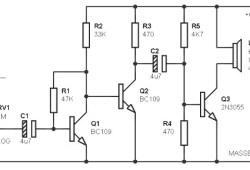 Simple Amplifier Circuit 3W / 8 ohm