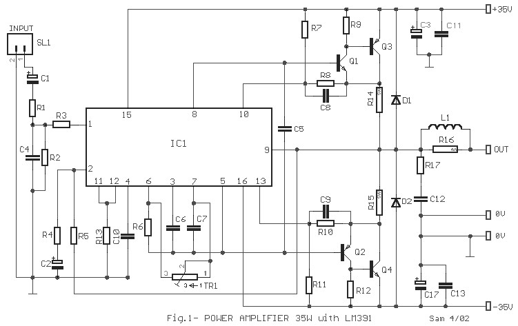 35w audio amplifier based lm391