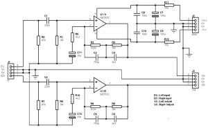 RIAA stereo preamplifier circuit
