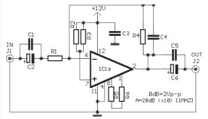 Video Amplifier Circuit based LM359N