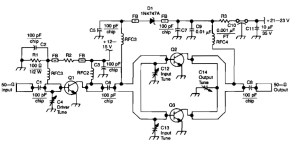 The two-stage, 4W, SD1598/SD1853 amplifier