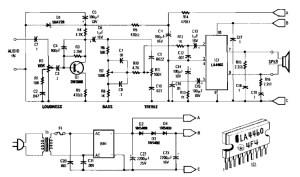5 watt audio amplifier based LA4460