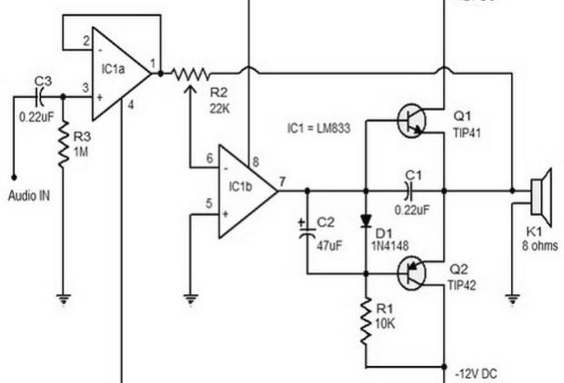LM833 Archives - Amplifier Circuit Design