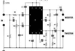 Two way 20 watts audio amplifier