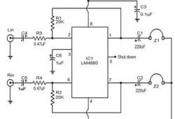 Hi Fi headset Amplifier based LM 4880