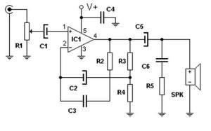 10W audio amplifer