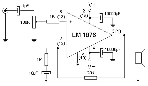 20 w amplifier schematic