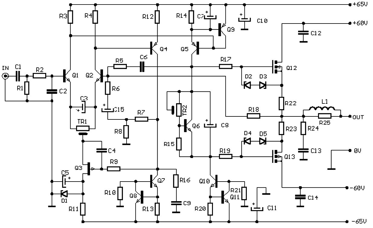 100w audio amplifier based f e t
