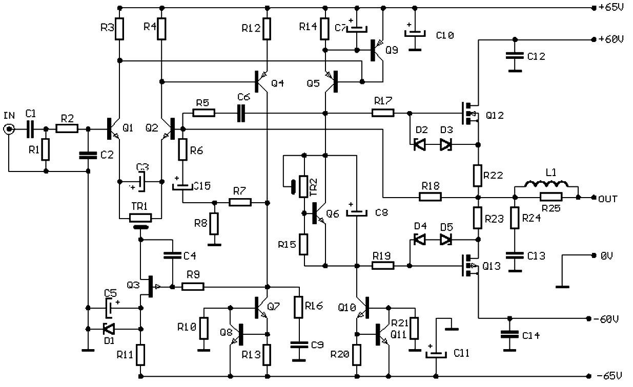 100w audio amplifier based f e t