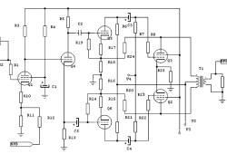 100 W valve audio amplifier