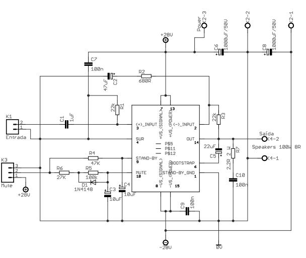 Tda7294 Power Audio Circuit Diagram - Your Wiring Diagram