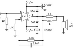 100 W audio amplifier based LM12CLK