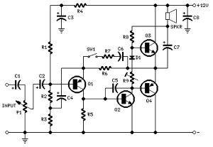 2 watt amplifier circuit